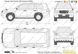 The-Blueprints.com - Vector Drawing - Toyota Land Cruiser 200 Amazon