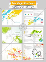Presentation Flyers Set Of Four Pages Abstract Brochures Or Flyers Presentation For Your Business And Ecology Concept