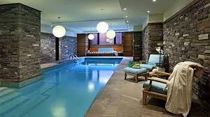 Swimming pool inside house with a marvelous view of beautiful pool interior  design to add beauty to your home 3
