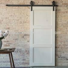 antique white large x brace bi parting barn door for living room with sliding door