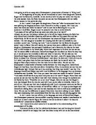 king lear an essay about shakespeare s presentation of women in  page 1 zoom in