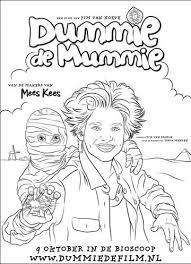 Kleurplaat Dummie De Mummie Dummie De Mummie Kleurplaten Boeken