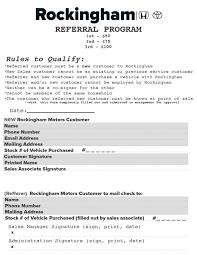 Rockingham Customer Referral Program Rockingham Honda