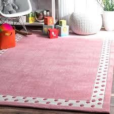 pink handmade modern solid dotted border kids area rug nuloom overdyed