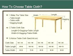 table cloth size awesome cover sizes on modern home decoration idea with square tablecloth for round