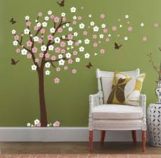 tree blowing in the wind wall decals nursery tree flowers erfly art baby kids room wall sticker wall decor 78 h x 74 8 w home decor living room