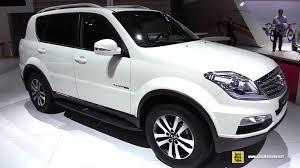 2018 ssang yong rexton rx200 sel exterior and interior walkaround 2018 paris auto show you