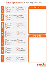 Apartment Chore Chart Cleaning Schedules And Checklists For Every Home