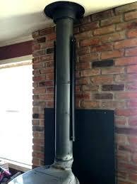 fireplace heat shield above firebrick reflector shields chimney for pipe