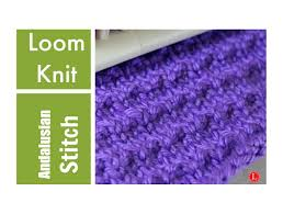 Loom Knit Patterns Enchanting LOOM KNITTING STITCHES The Andalusian Stitch Pattern YouTube