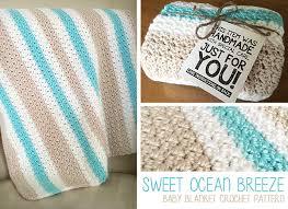 Bernat Baby Blanket Crochet Patterns Enchanting Sweet Ocean Breeze Baby Blanket Free Crochet Pattern By Little