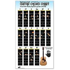 Basic 4 String Bass Chord Chart Guitar Chord Chart Poster For Beginners 16 Popular Chords Guide Perfect For Students And Teachers Educational Handy Guide Chart Print For Guitar