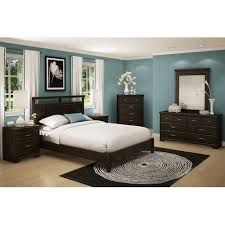 bedroom ideas with dark furniture. dark wood furniture with enticing teal paint to brighten up the bedroom guest room ideas