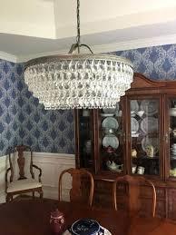 pottery barn clarissa chandelier crystal drop small round chandelier pottery barn inside chandelier