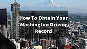 washington state driving record