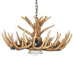 whitetail 12 cast cascade antler chandelier w downlight