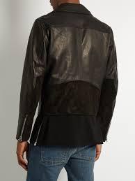 acne studios axl suede panel leather jacket mens black acne studios jensen boots