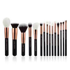 makeup brushes set and their uses. jessup rose gold 15pcs set flat foundation powder eyeliner makeup brushes and their uses