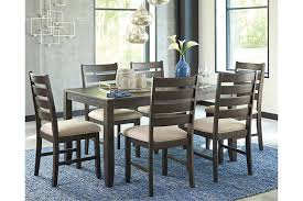 dining room table and chairs with wheels. Rokane Dining Room Table And Chairs (Set Of 7), , Large With Wheels T