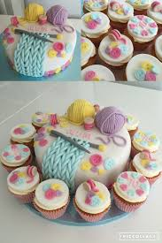 Knitting Theme Birthday Cake Cakes In 2019 Knitting Cake
