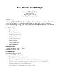 Cover Letter Sales Resume Skills Examples Sales Resume Objective