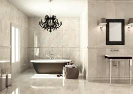 simple ideas bathroom chandeliers with ceramic floor and