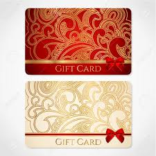 red and gold gift card discount card floral pattern and red and gold gift card discount card floral pattern and red bow ribbons this background