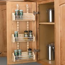 Shelf Cabinet With Doors Rev A Shelf Adjustable Door Mt Spice Rack 18 Wood 4asr 18