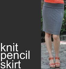 Knit Skirt Pattern Interesting Knit Pencil Skirt A Tutorial Crafterhours