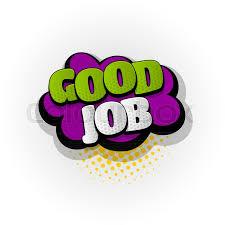 Good Job Template Good Job Work Hand Drawn Pictures Stock Vector Colourbox