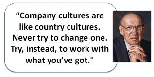corporate culture role in change management drucker on changing corporate culture