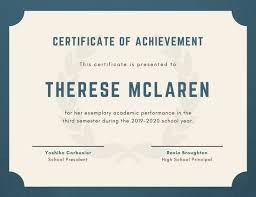 Textured Background Academic Certificate Templates By Canva
