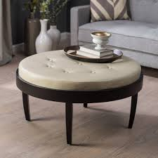 ... Large Size Of Ottoman:splendid Round Ottomans Coffee Tables This  Circular Castered From Stein World ...