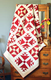BLOCK Friday: Red and White Quilts - Fons & Porter - The Quilting ... & Lincoln's Delight - Two-Color Quilts Adamdwight.com