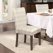 gray diamond parson chairs set of 2