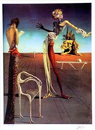 woman with a head of roses 1935 by salvador dalí