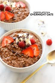 chocolate chia overnight oats video