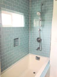 Attingham Seagrass Geometric Decor Tile Gray Glass Tile Shower Room With Mosaic Stone Accent Built In Wall F 83