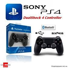 sony playstation 4 controller. sony genuine playstation 4 dualshock controller (ps4) - black sony