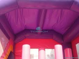 Big Pink Inflatable Castle Bouncy Slide