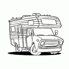 Leuk Voor Kids Camper Idee Kleurplaat Caravan20 Nieuwe Kleurplaat