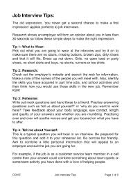 Job Interview Tips For School And College Leavers