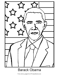 Small Picture Presidents Day Coloring Page Barack Obama PrimaryGames Play