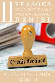 Things which can negatively affect your credit score include: 11 Reasons Your Credit Card Application Was Denied And What You Can Do About It