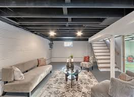 rafters living lighting. Paint Basement Rafters Living Lighting