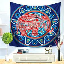 hanging blankets on walls mandala printed
