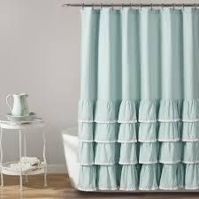 lush decor ella ruffle shower curtain