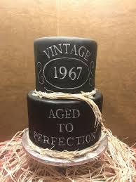 Cake Designs For Mens 70th Birthday Hand Painted Birthday Cake Sugarandspicecustomcakery