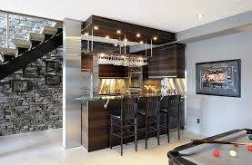 modern basement bar. Contemporary Bar View In Gallery Beautiful Basement Bar Makes Use Of Space Under The Stairs  Design Luxurious Living Studio In Modern Basement Bar O