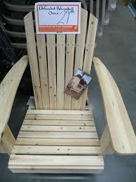 adirondack chair home depot unfinished adirondack chair home depot